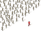 Crowd Source - People Power royalty free illustration
