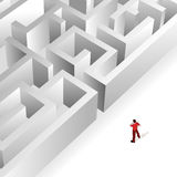 Crowd Source - Thinking Maze Royalty Free Stock Image