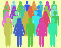Crowd sourcing -  People Power - Gender equality Stock Photography