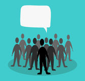 Crowd speak concept Royalty Free Stock Photo