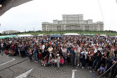 Crowd of spectators at event Stock Photography