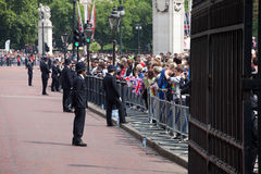 Crowd of spectators in London Stock Photography