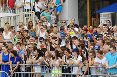 Crowd of spectators Stock Images