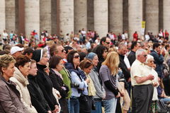 Crowd in st peter's square Stock Image