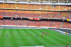Crowd at stadium Royalty Free Stock Photos