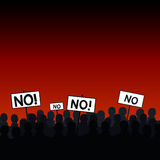 Crowd standing out. Signs to vote no royalty free illustration