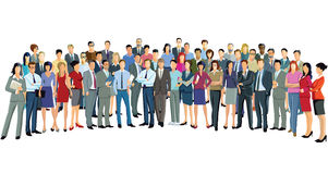 Crowd of standing people Royalty Free Stock Photography