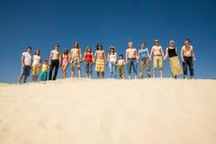Crowd of sunbathers Royalty Free Stock Photo