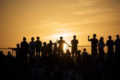 Crowd at Sunset Royalty Free Stock Photo