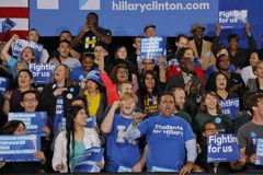 Crowd of supporters for Democratic Presidential Candidate Hillary Clinton Campaigns In Las Vegas, Nevada Stock Photo
