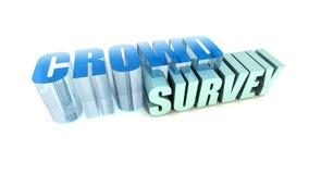 Crowd Survey Stock Photo