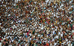 CROWD TEXTURE. Large devotes crowd texture in sir ranganather temple at tirchy,sir rangam.photo taken on;09th september 2015 royalty free stock image