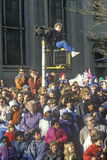 Crowd at  Thanksgiving day Macy's Parade Royalty Free Stock Photography