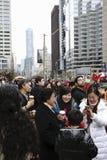 The Crowd at the Toronto Santa Claus Parade - 2013 Stock Photography