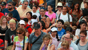 Crowd of tourists Stock Images