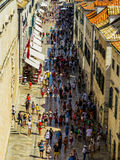 Tourists in Dubrovnik, Croatia  Stock Photography