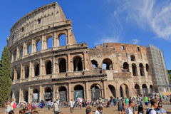 Crowd of tourists near the Colosseum in Rome, Italy Stock Photos