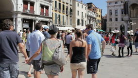 Crowd of tourists in Venice Stock Photography
