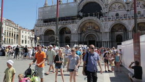 Crowd of tourists in Venice Stock Images