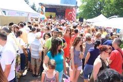 Crowd at Turkish Festival Stock Photos