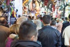 Crowd at turkish market Stock Photos