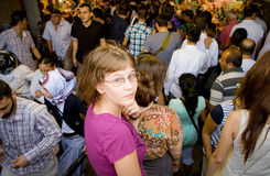 Crowd in underground passage in Istanbul Royalty Free Stock Photo