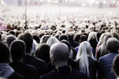 Crowd of unrecognisable people Royalty Free Stock Photos
