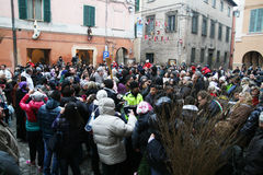 Crowd in urbania Stock Images