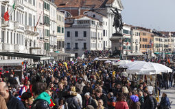 Crowd in Venice Stock Photo