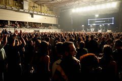 Crowd at  the Vetusta Morla (music band) concert at Sant Jordi Club stage Stock Photography