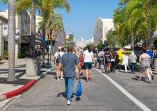 Crowd of visitors at Universal Studios Florida. ORLANDO,USA - AUGUST 23, 2014 : Crowd of visitors at Universal Studios Florida theme park royalty free stock photo