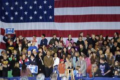 Crowd Waiting for Hillary Royalty Free Stock Images