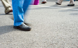 Crowd walking Royalty Free Stock Images