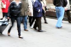 Crowd Walking. Motion of a crowd walking Royalty Free Stock Photos