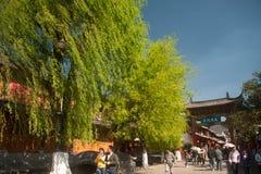 Crowd walking in Lijiang Dayan old town . Royalty Free Stock Photo