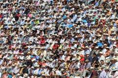 Crowd watch bullfighting Stock Images