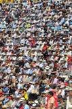 Crowd watch bullfighting Royalty Free Stock Photos