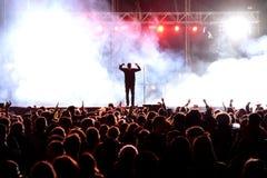 Crowd watch a concert at MBC Fest Stock Photos