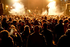 Crowd watch a concert at MBC Fest Stock Photography