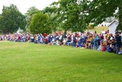 Crowd watching battle Royalty Free Stock Image
