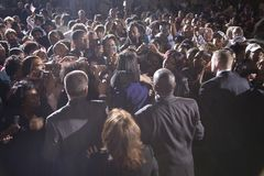 Crowd watching Michelle Obama Royalty Free Stock Photos