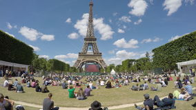 Crowd watching Tennis at French Open stock video
