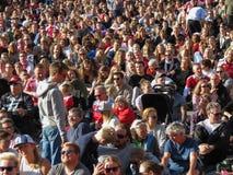 Crowd watching Women`s Euro 2017 Final Royalty Free Stock Photo