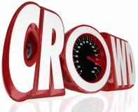 Crowd Word Speedometer Fund Raise Source Assistance Help stock illustration