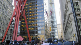 Crowd at Yankees parade Royalty Free Stock Photos