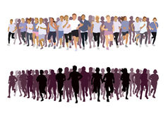 Running people royalty free illustration