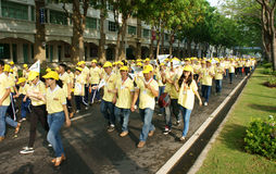 Crowded activity, walking for community Stock Image