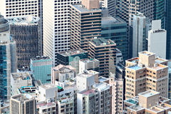 Crowded apartment building Royalty Free Stock Image