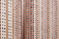 Crowded apartment building Stock Images