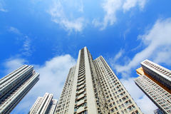 Crowded apartment building in Hong Kong Royalty Free Stock Photos